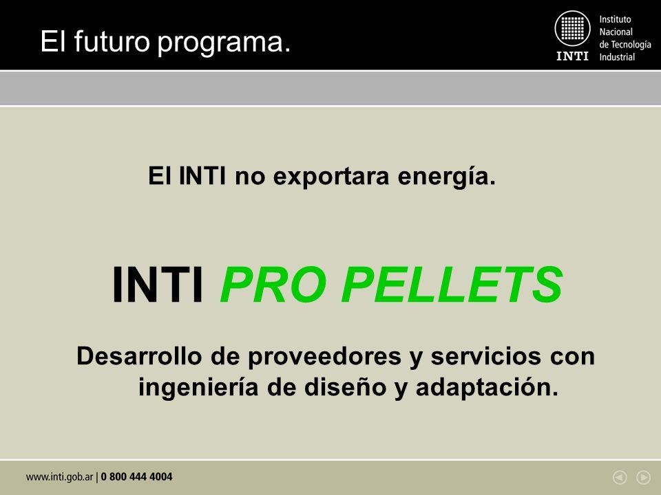 El INTI no exportara energía.