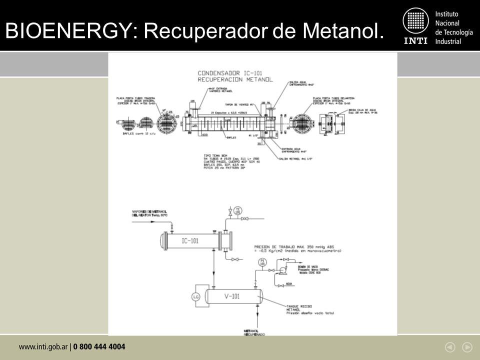 BIOENERGY: Recuperador de Metanol.