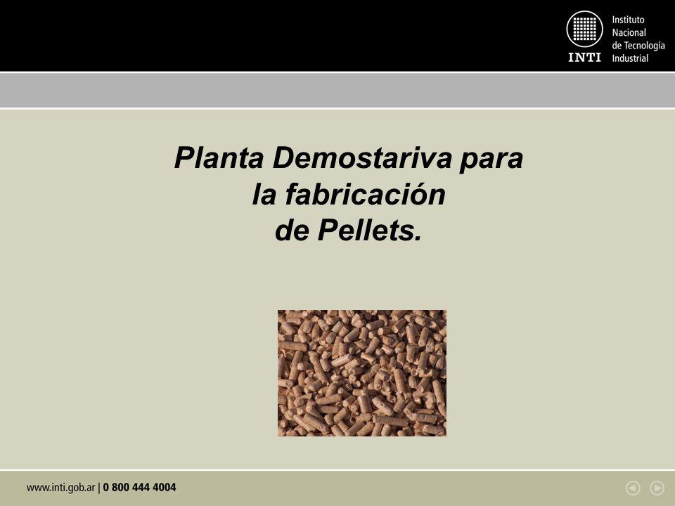 Planta Demostariva para la fabricación de Pellets.