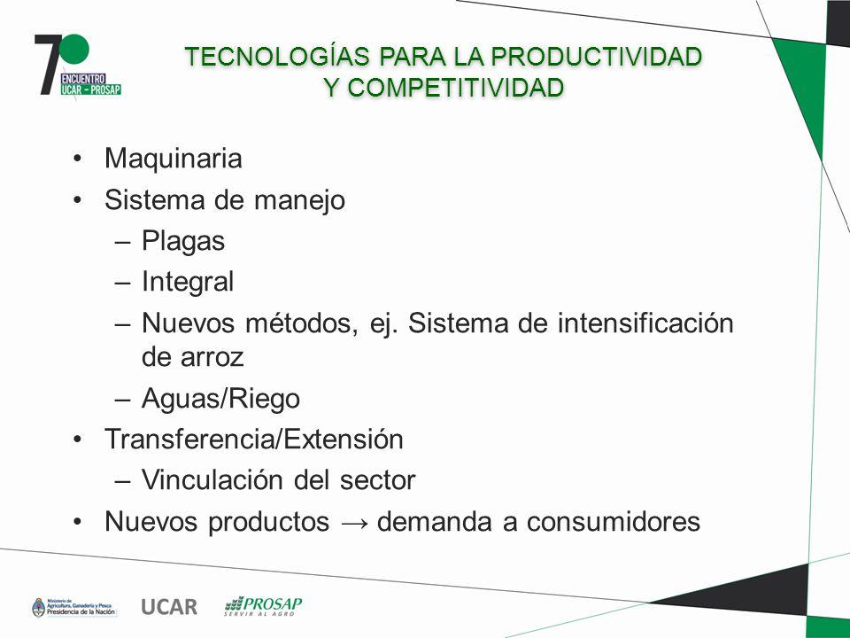 TECNOLOGÍAS PARA LA PRODUCTIVIDAD Y COMPETITIVIDAD