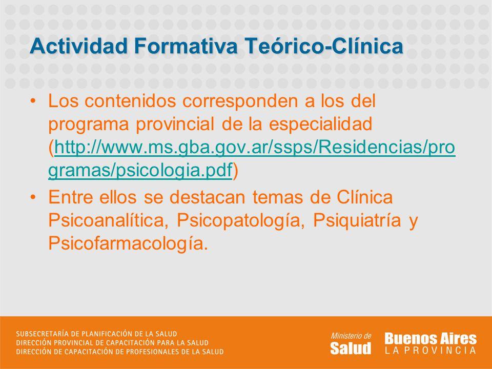 Actividad Formativa Teórico-Clínica