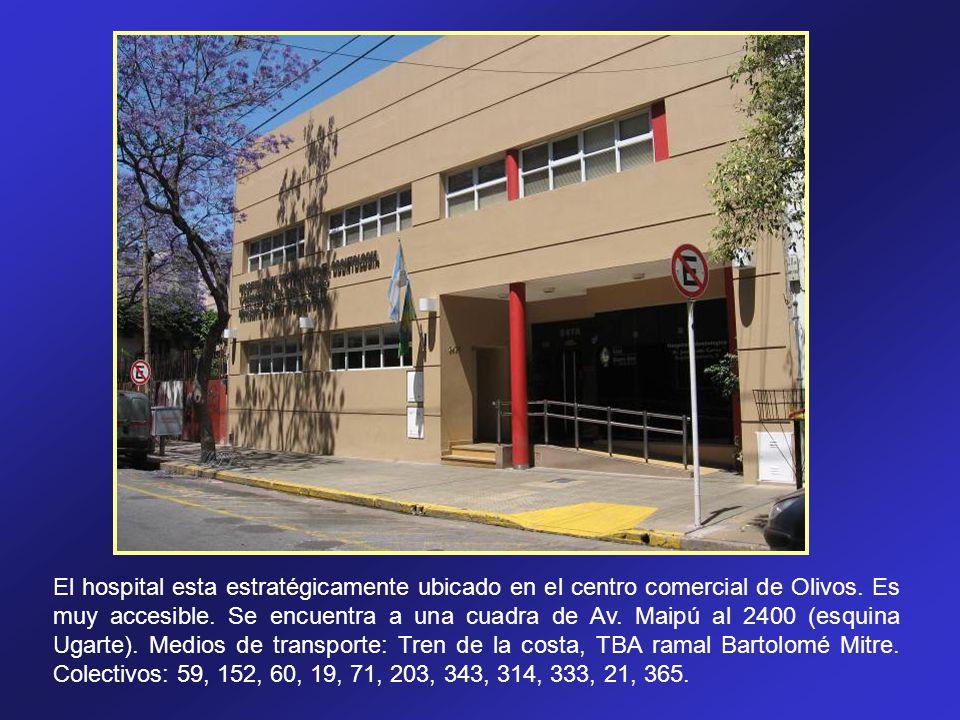 El hospital esta estratégicamente ubicado en el centro comercial de Olivos.