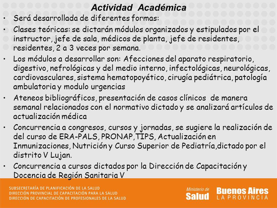Actividad Académica Será desarrollada de diferentes formas: