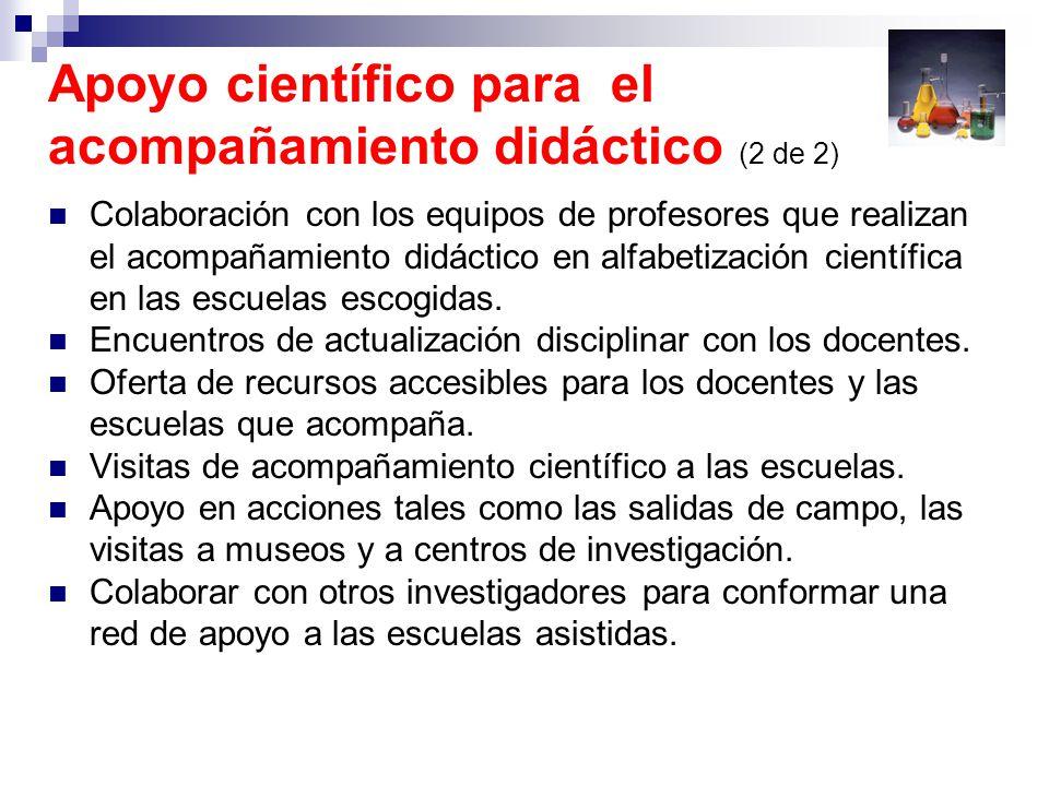 Apoyo científico para el acompañamiento didáctico (2 de 2)