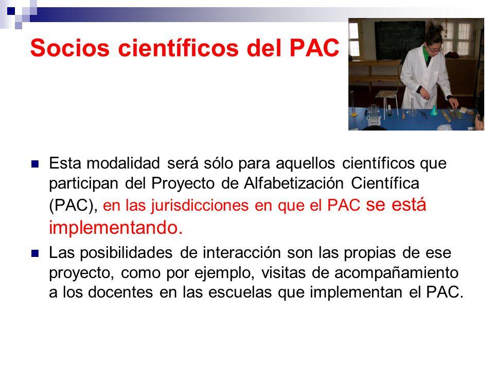 Socios científicos del PAC