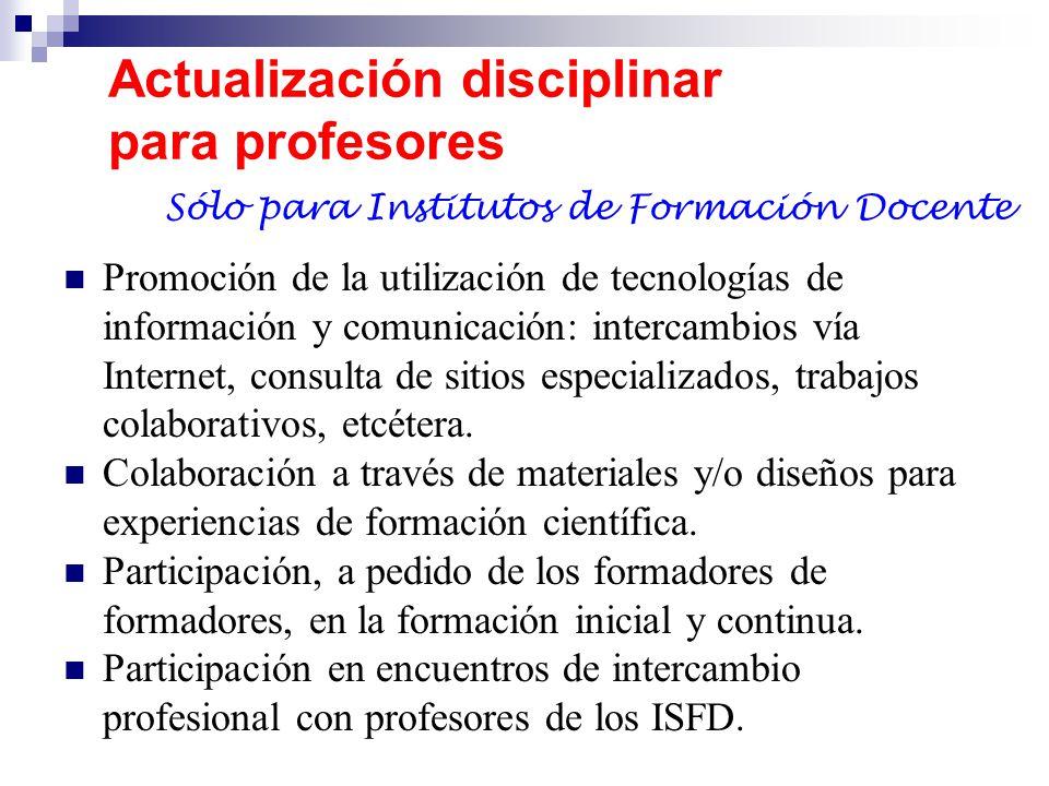 Actualización disciplinar para profesores