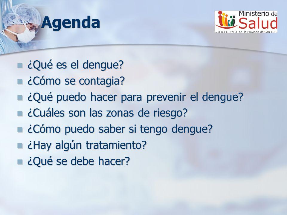 Agenda ¿Qué es el dengue ¿Cómo se contagia