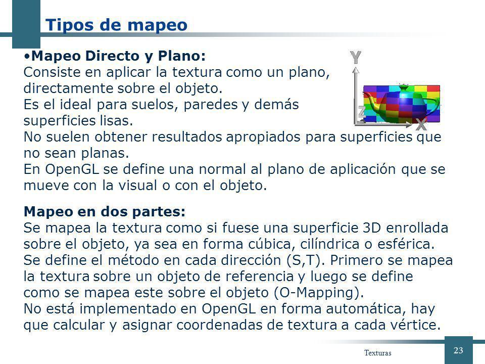 Tipos de mapeo Mapeo Directo y Plano: