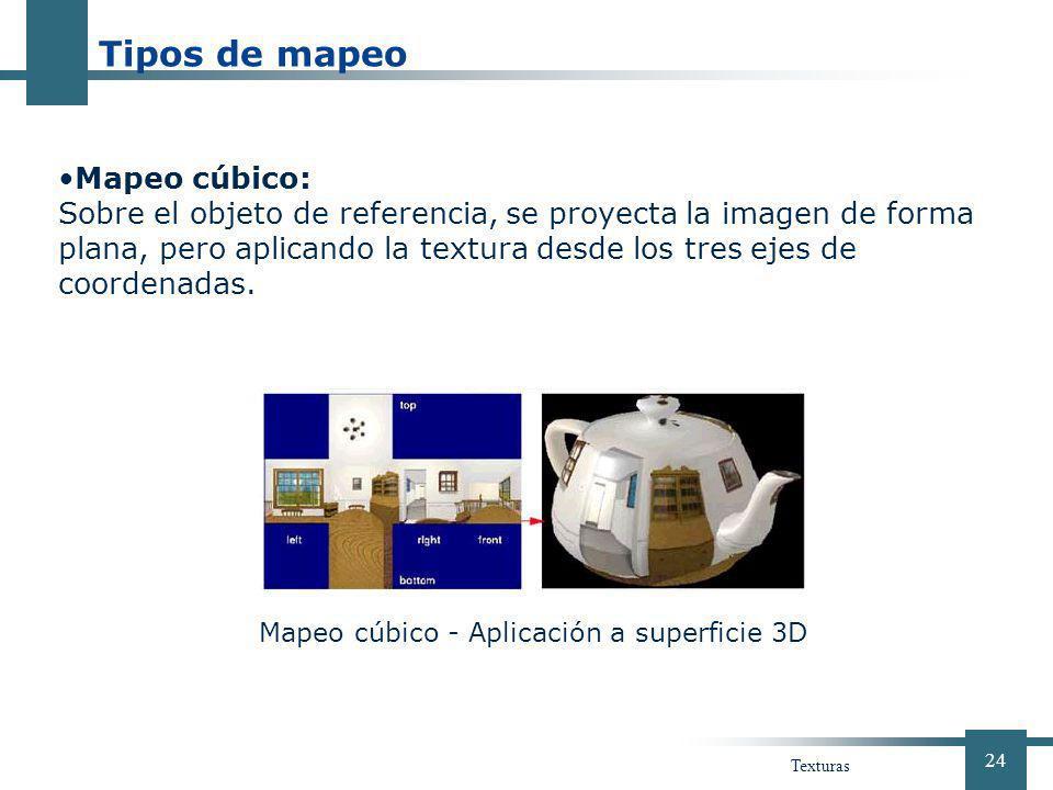 Tipos de mapeo Mapeo cúbico: