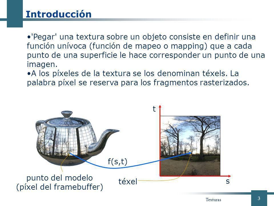 punto del modelo (píxel del framebuffer)
