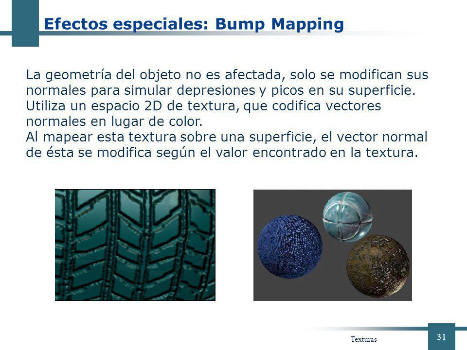 Efectos especiales: Bump Mapping