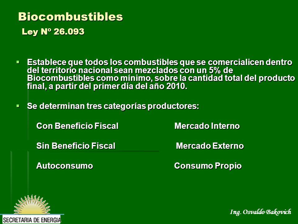 Biocombustibles Ley Nº 26.093