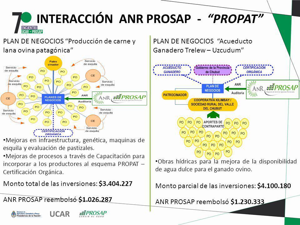 INTERACCIÓN ANR PROSAP - PROPAT