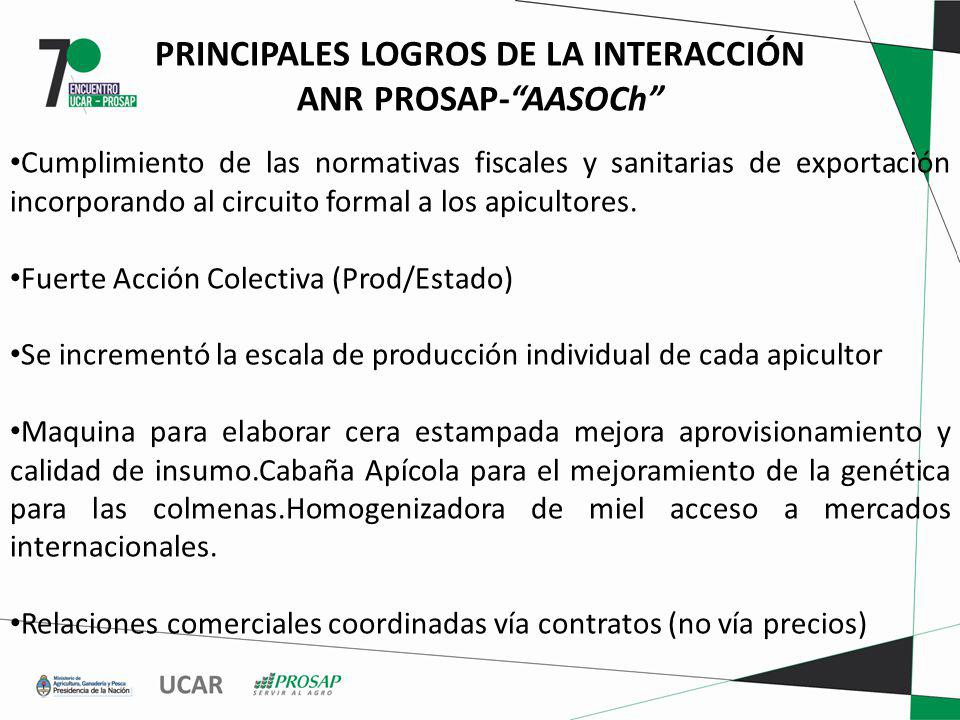PRINCIPALES LOGROS DE LA INTERACCIÓN