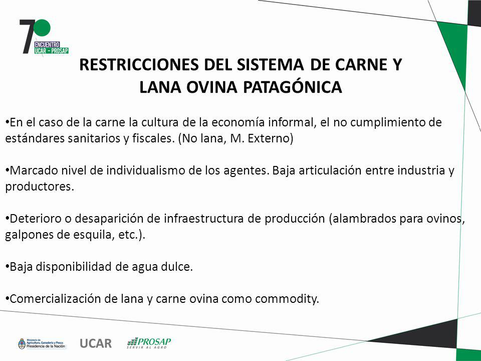 RESTRICCIONES DEL SISTEMA DE CARNE Y