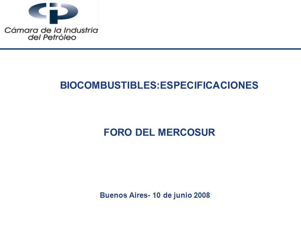 BIOCOMBUSTIBLES:ESPECIFICACIONES