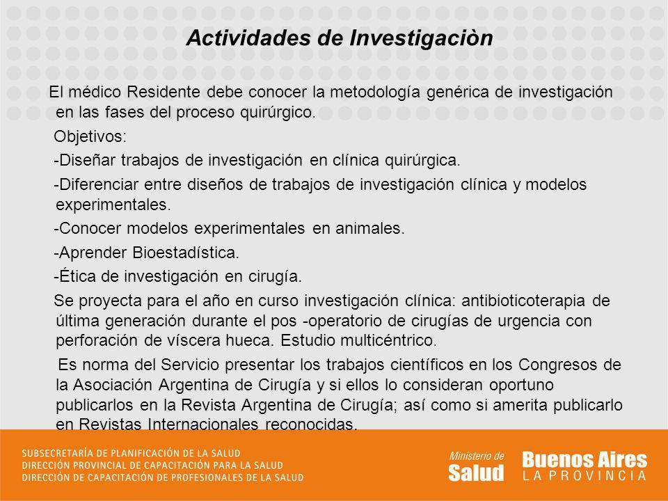 Actividades de Investigaciòn