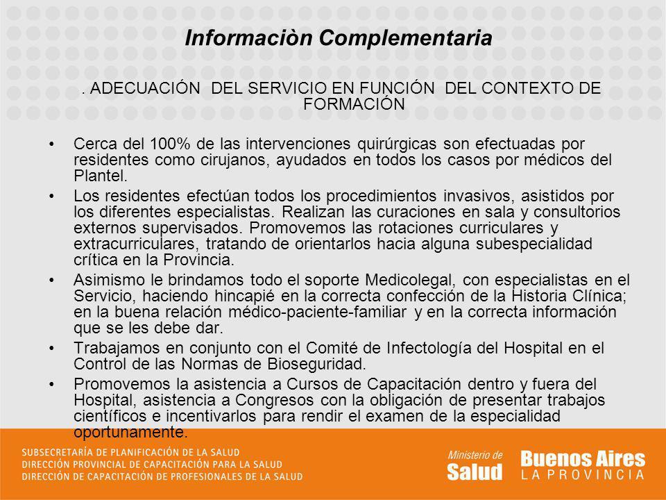 Informaciòn Complementaria