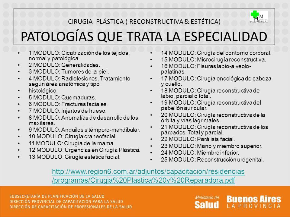 CIRUGIA PLÁSTICA ( RECONSTRUCTIVA & ESTÉTICA) PATOLOGÍAS QUE TRATA LA ESPECIALIDAD