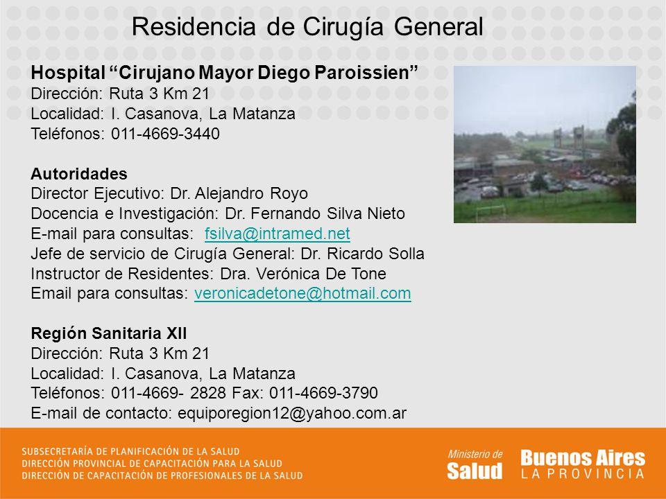Residencia de Cirugía General