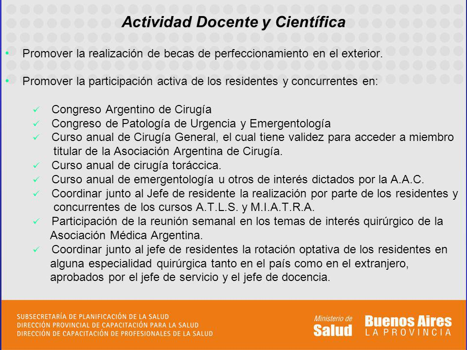 Actividad Docente y Científica