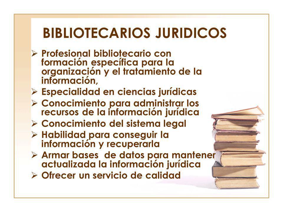 BIBLIOTECARIOS JURIDICOS