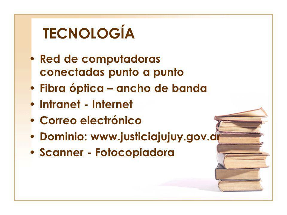 TECNOLOGÍA Red de computadoras conectadas punto a punto