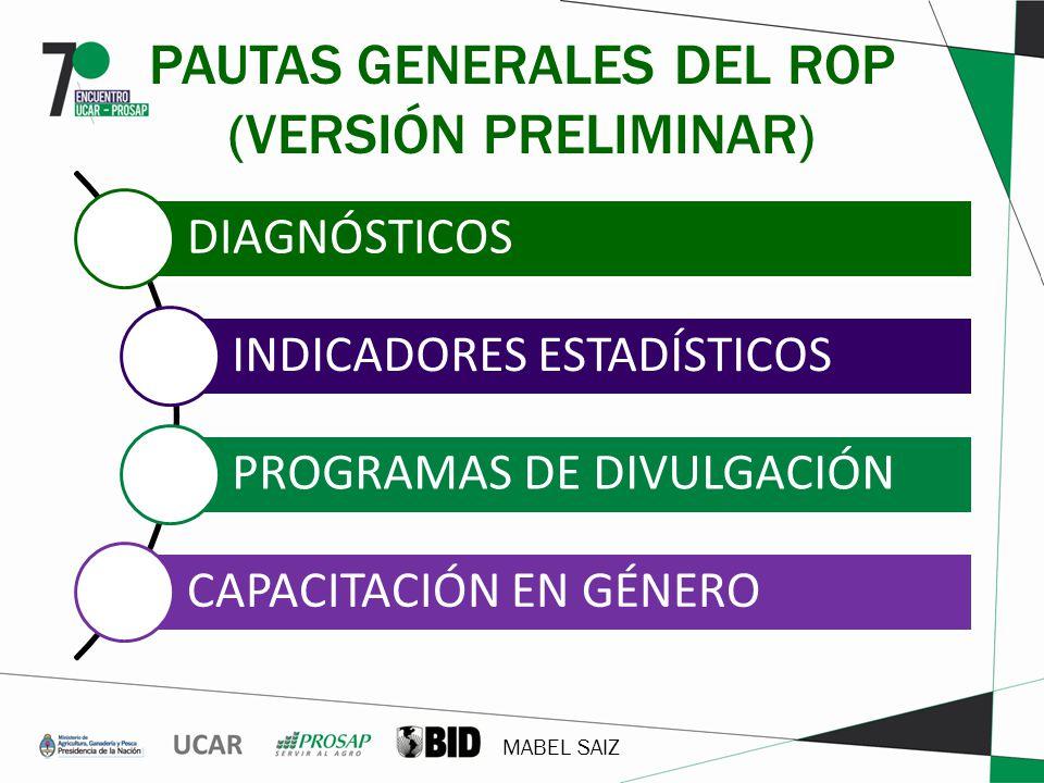 PAUTAS GENERALES DEL ROP (VERSIÓN PRELIMINAR)