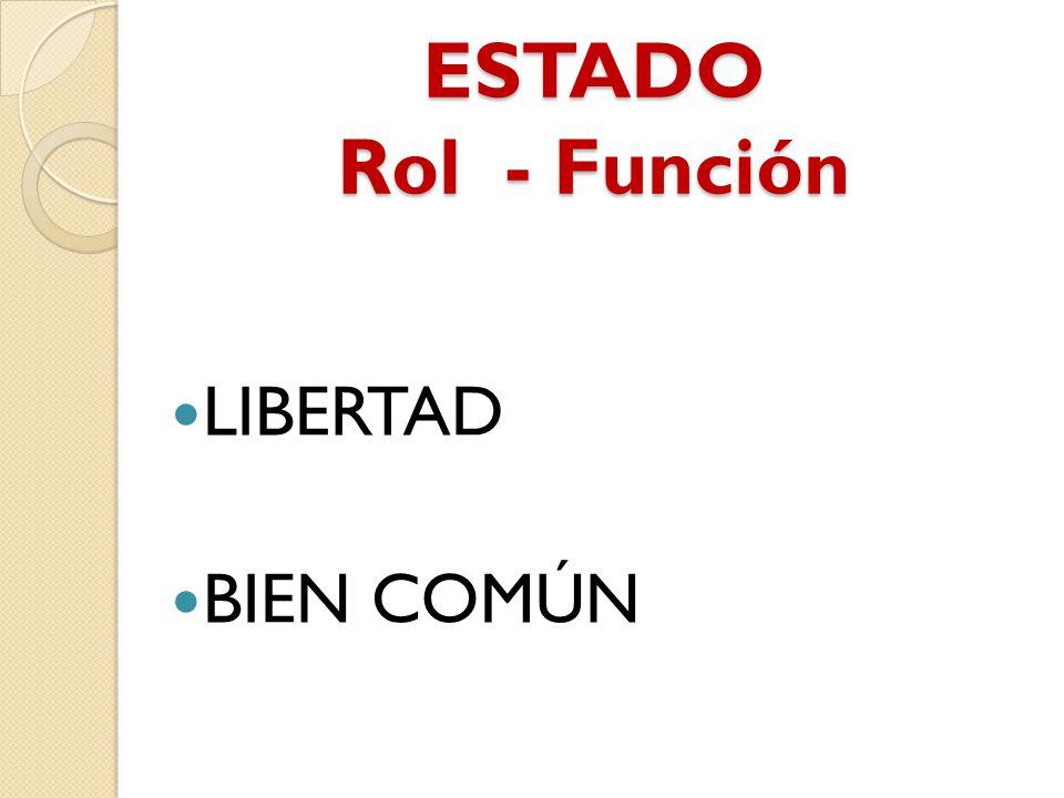 ESTADO Rol - Función LIBERTAD BIEN COMÚN