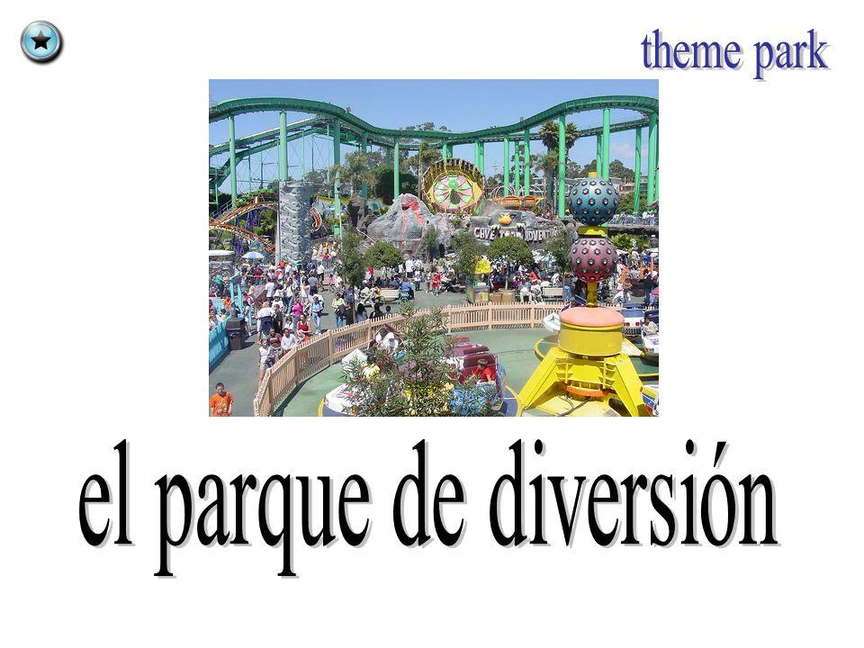theme park el parque de diversión