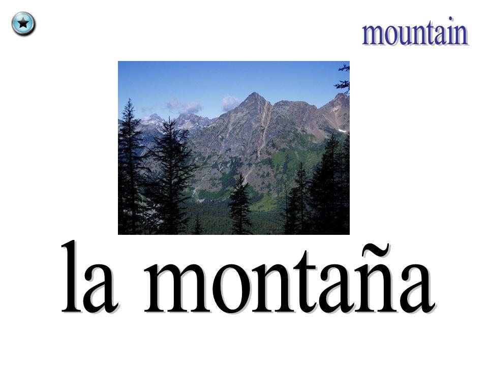 mountain la montaña