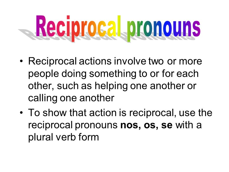 Reciprocal pronouns