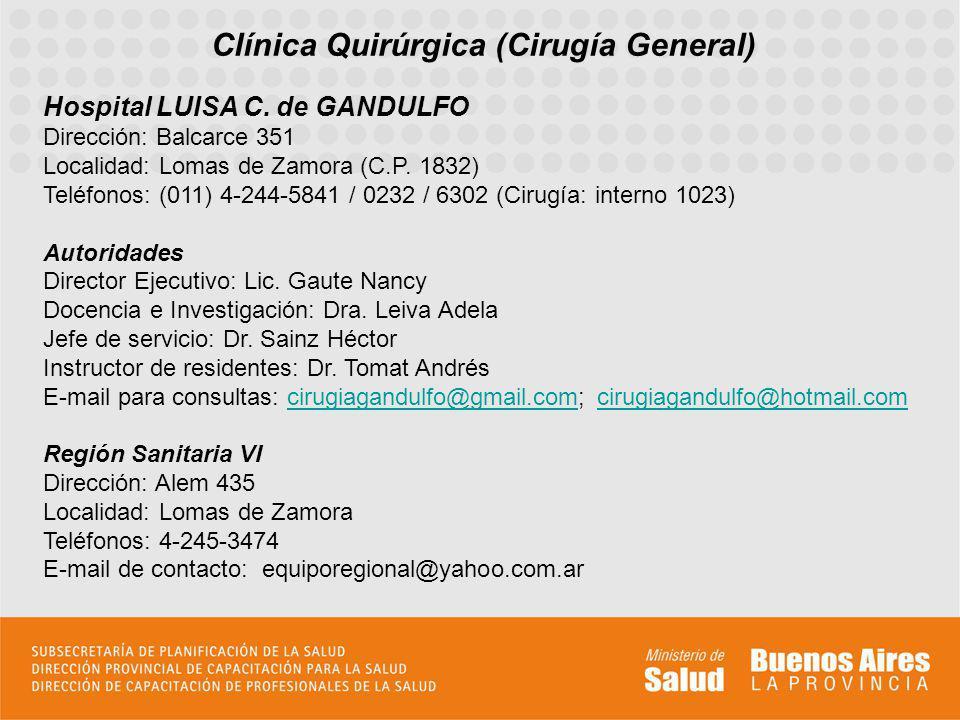 Clínica Quirúrgica (Cirugía General)