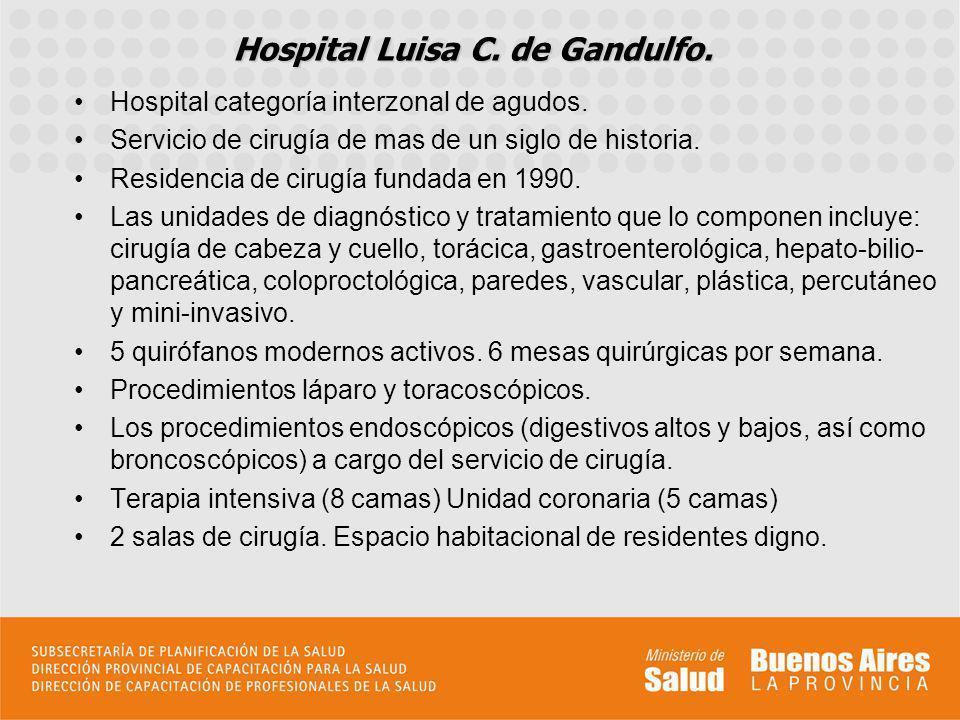 Hospital Luisa C. de Gandulfo.