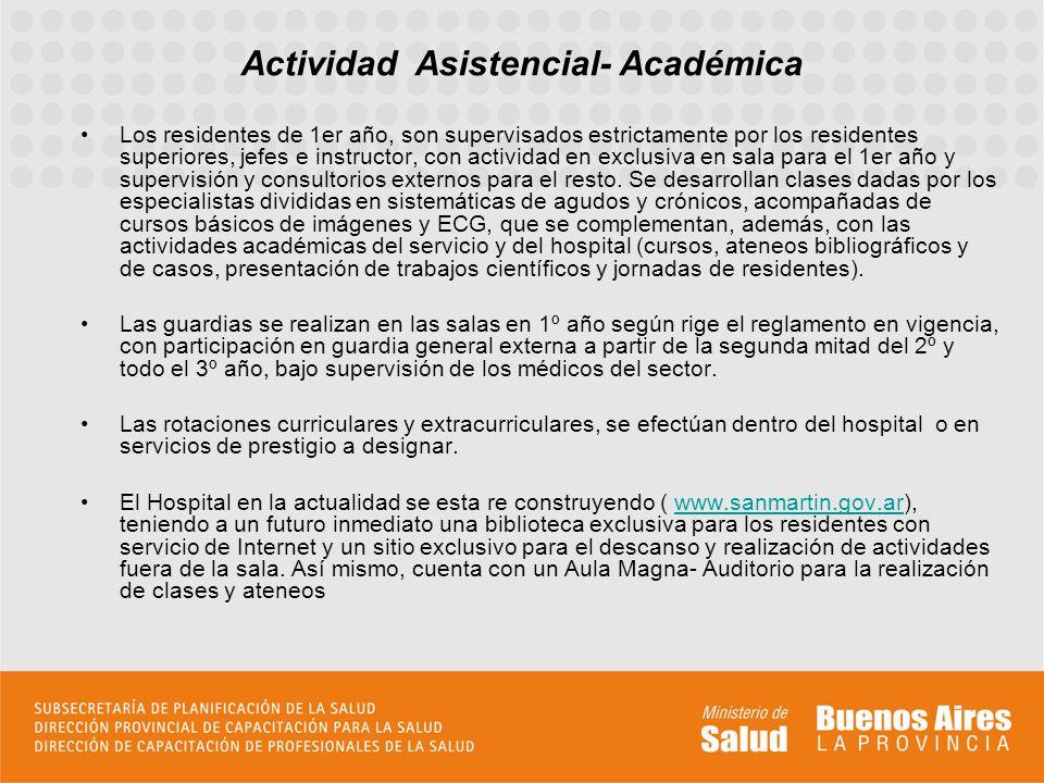 Actividad Asistencial- Académica
