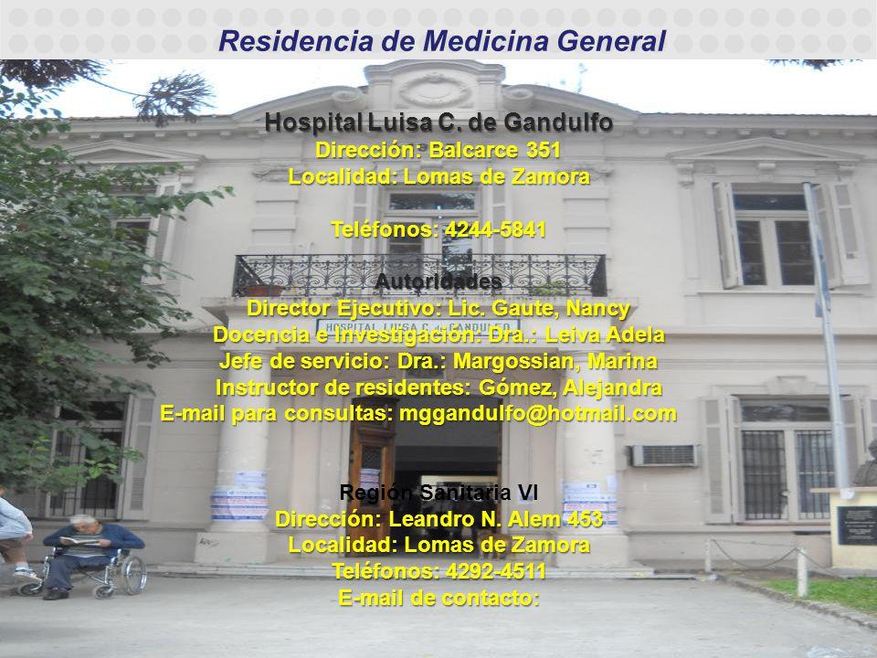 Dirección: Leandro N. Alem 453 Localidad: Lomas de Zamora