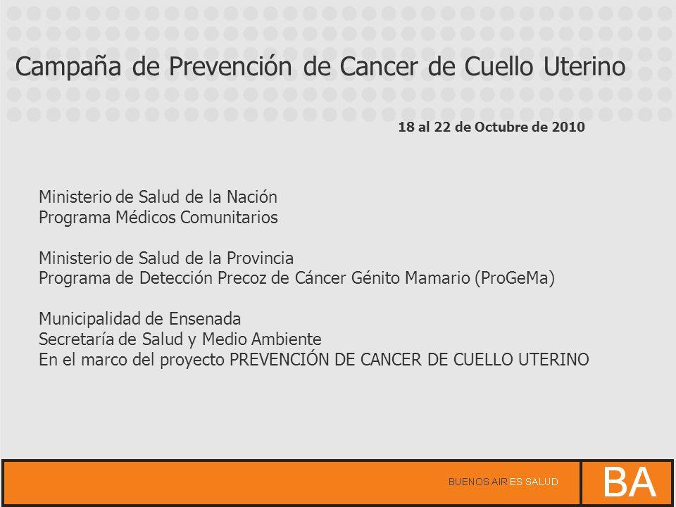Campaña de Prevención de Cancer de Cuello Uterino