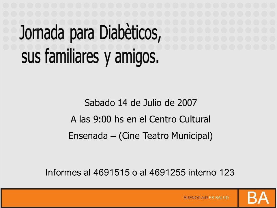 Jornada para Diabèticos, sus familiares y amigos.