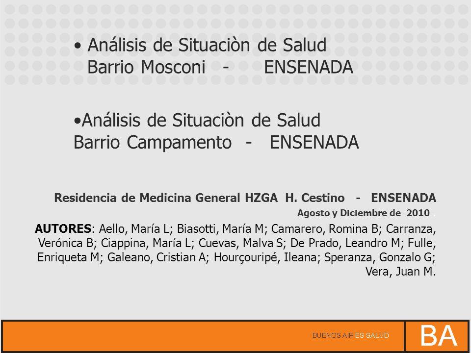 Análisis de Situaciòn de Salud Barrio Mosconi - ENSENADA