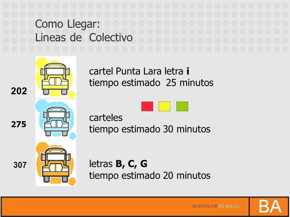 Como Llegar: Lineas de Colectivo cartel Punta Lara letra i