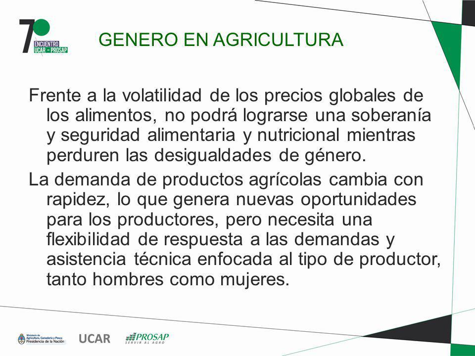 GENERO EN AGRICULTURA