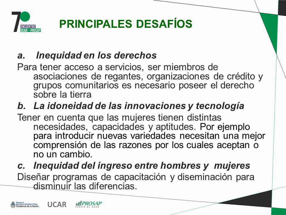 PRINCIPALES DESAFÍOS Inequidad en los derechos