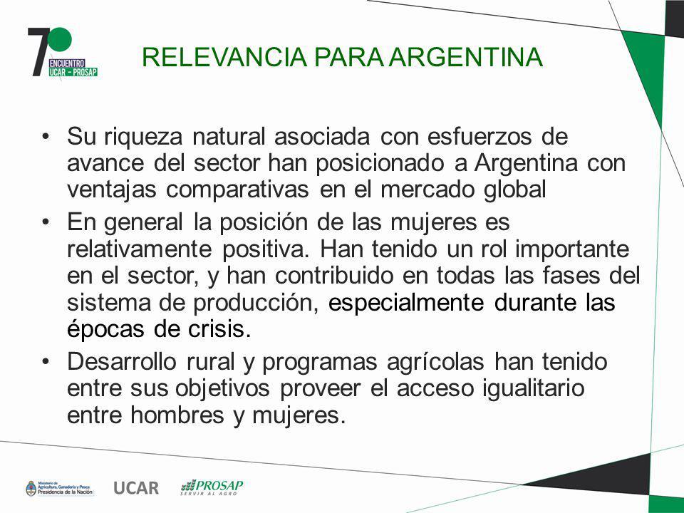 RELEVANCIA PARA ARGENTINA