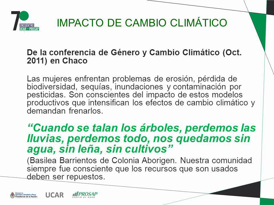 IMPACTO DE CAMBIO CLIMÁTICO