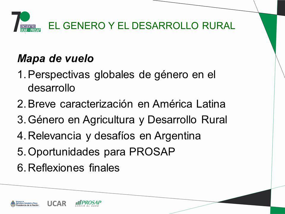 EL GENERO Y EL DESARROLLO RURAL