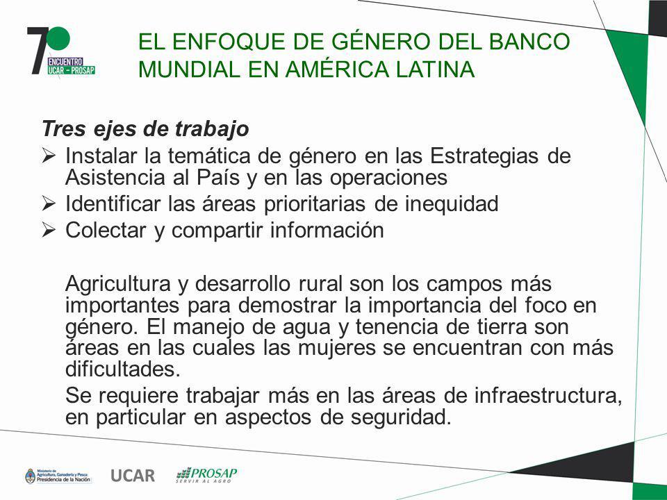 EL ENFOQUE DE GÉNERO DEL BANCO MUNDIAL EN AMÉRICA LATINA