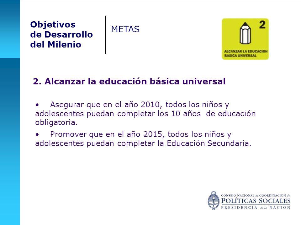 2. Alcanzar la educación básica universal