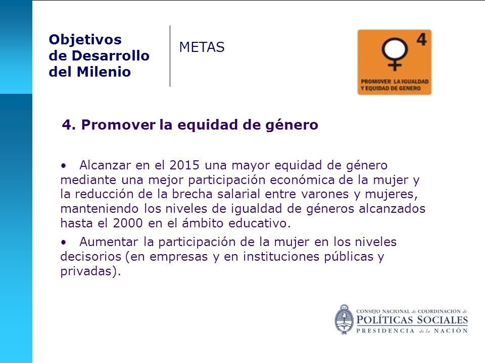 4. Promover la equidad de género