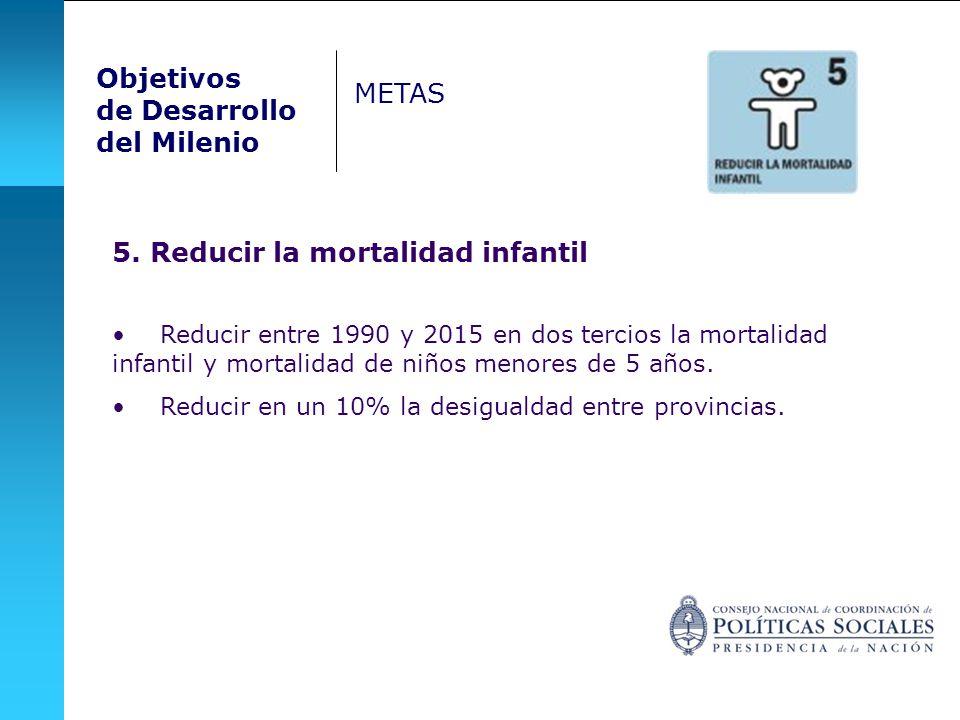 5. Reducir la mortalidad infantil