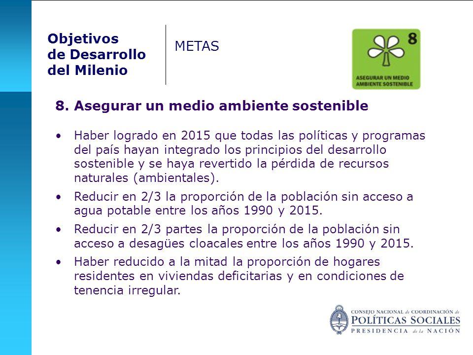 8. Asegurar un medio ambiente sostenible